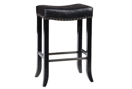Harley Black Backless Barstool