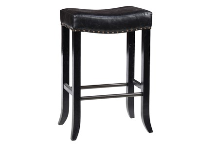 Harley Black Backless Barstool - Main