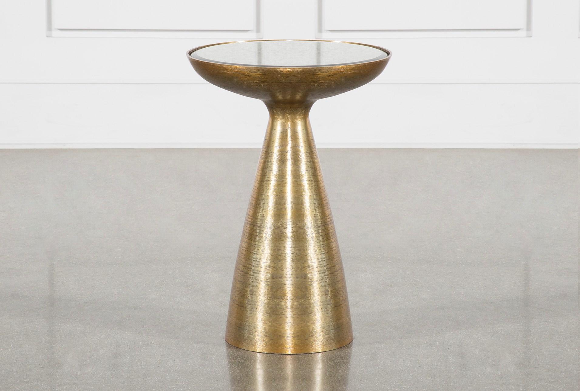 Marllie Mod Pedestal Accent Table Living Spaces
