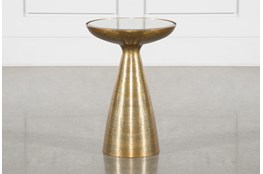 Marllie Mod Pedestal Accent Table