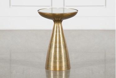 Marllie Mod Pedestal Accent Table