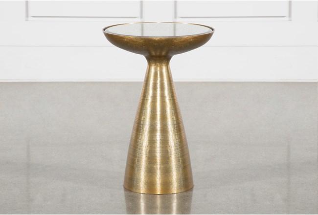 Marllie Mod Pedestal Accent Table - 360