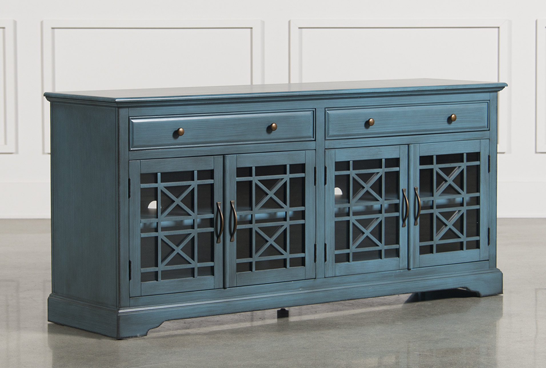 Annabelle Blue 70 Inch TV Stand Living Spaces