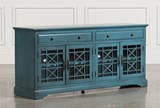 Annabelle Blue 70 Inch TV Stand - Signature