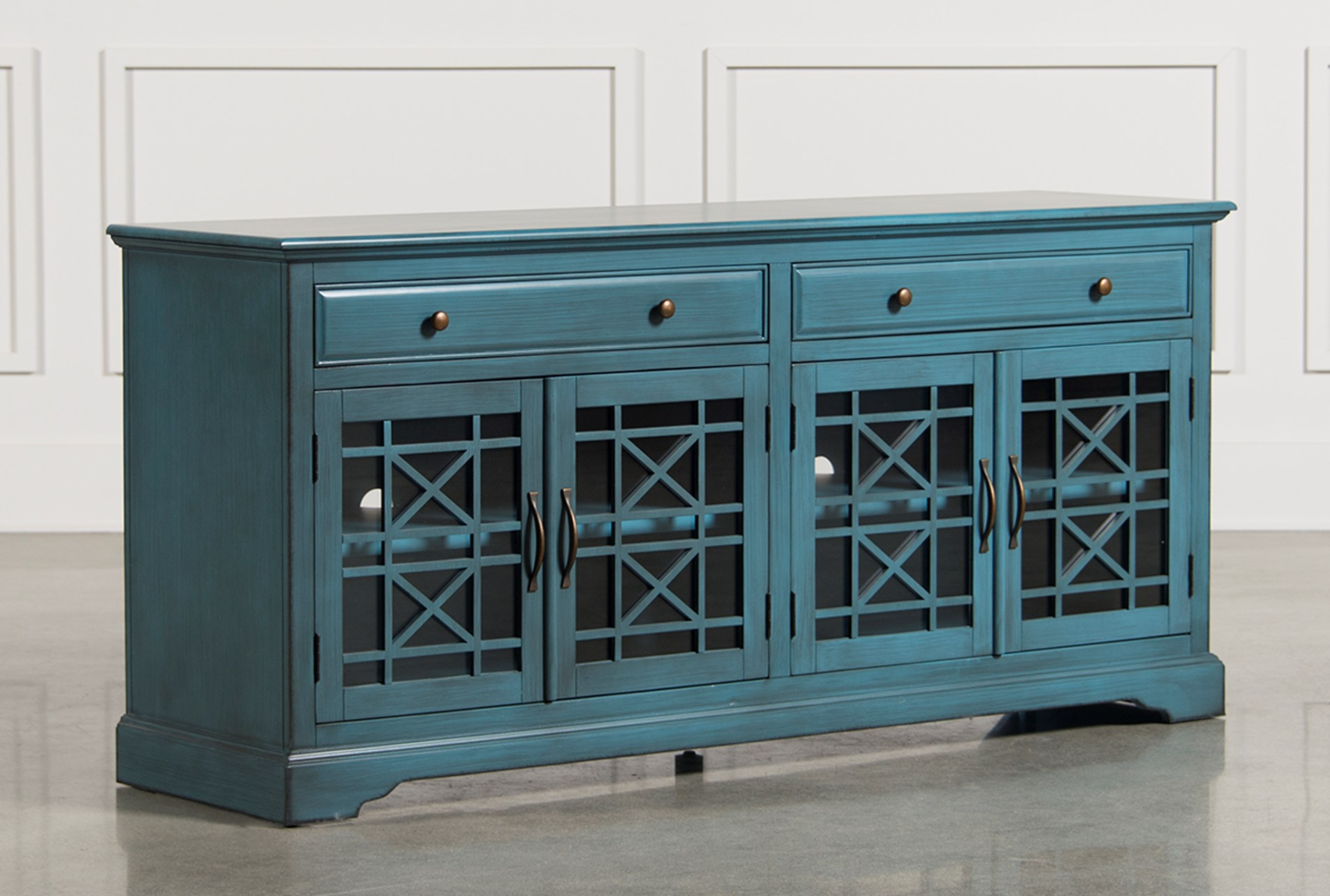 Annabelle Blue 70 Inch Tv Stand