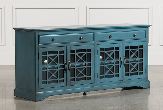 Annabelle Blue 70 Inch TV Stand - 360