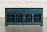 Annabelle Blue 70 Inch TV Stand - Back