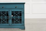 Annabelle Blue 70 Inch TV Stand - Left