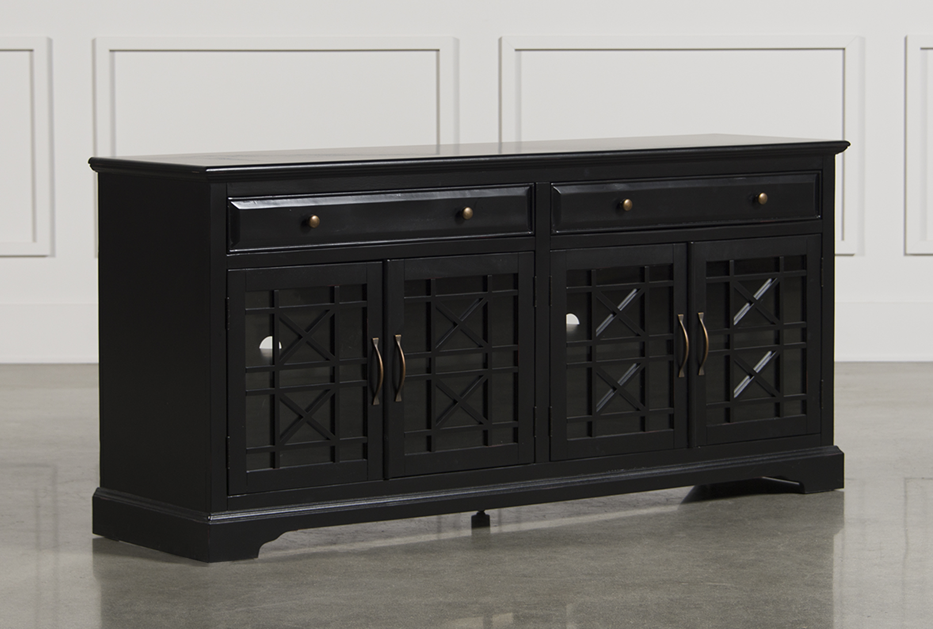 Annabelle Black 70 Inch TV Stand Living Spaces