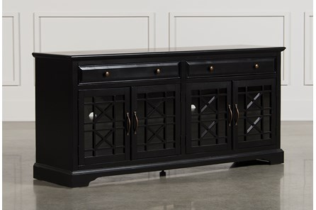 Annabelle Black 70 Inch TV Stand - Main