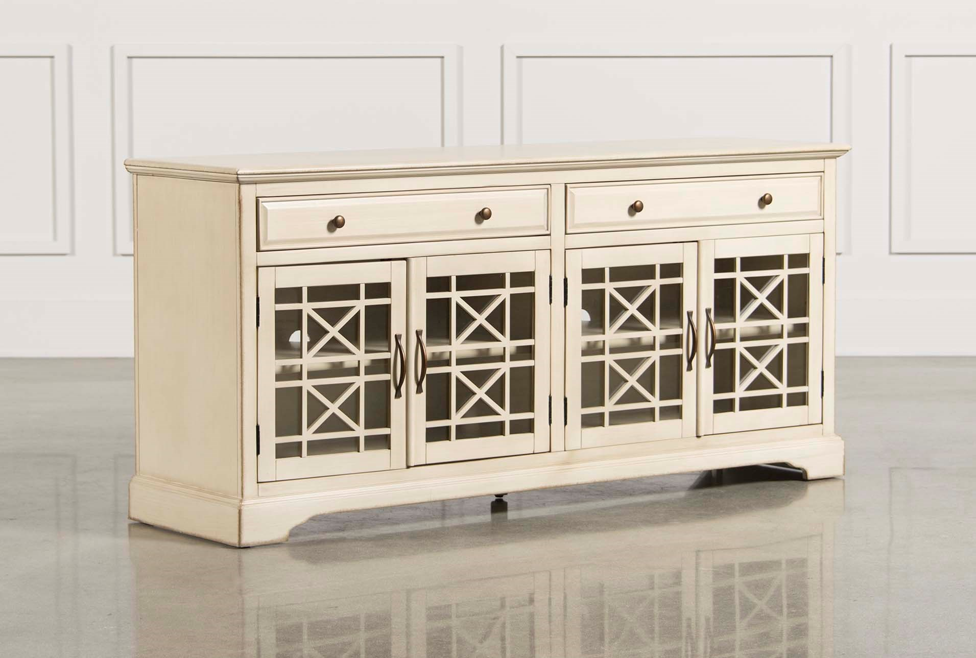 70 inch tv stand Annabelle Cream 70 Inch TV Stand | Living Spaces 70 inch tv stand