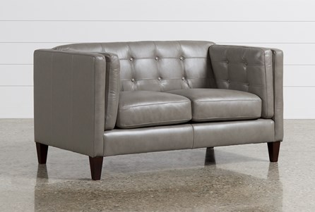 Ingrid Leather Loveseat