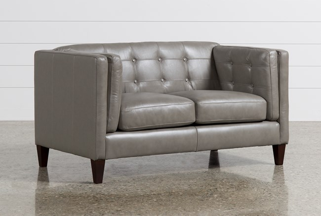 Ingrid Leather Loveseat - 360