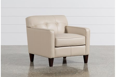 Madison Taupe Leather Chair - Main