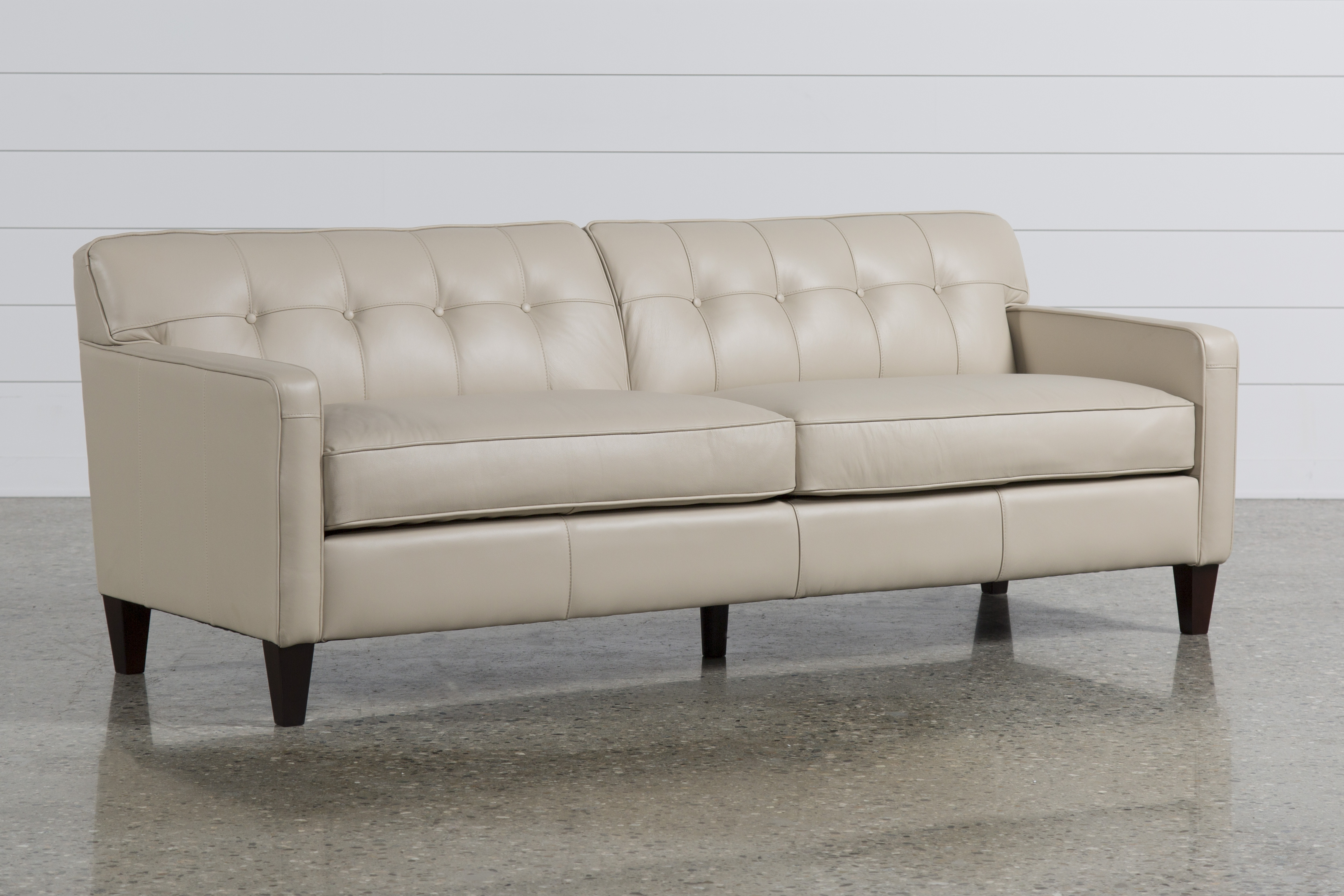 Added To Cart. Madison Taupe Leather Sofa ...