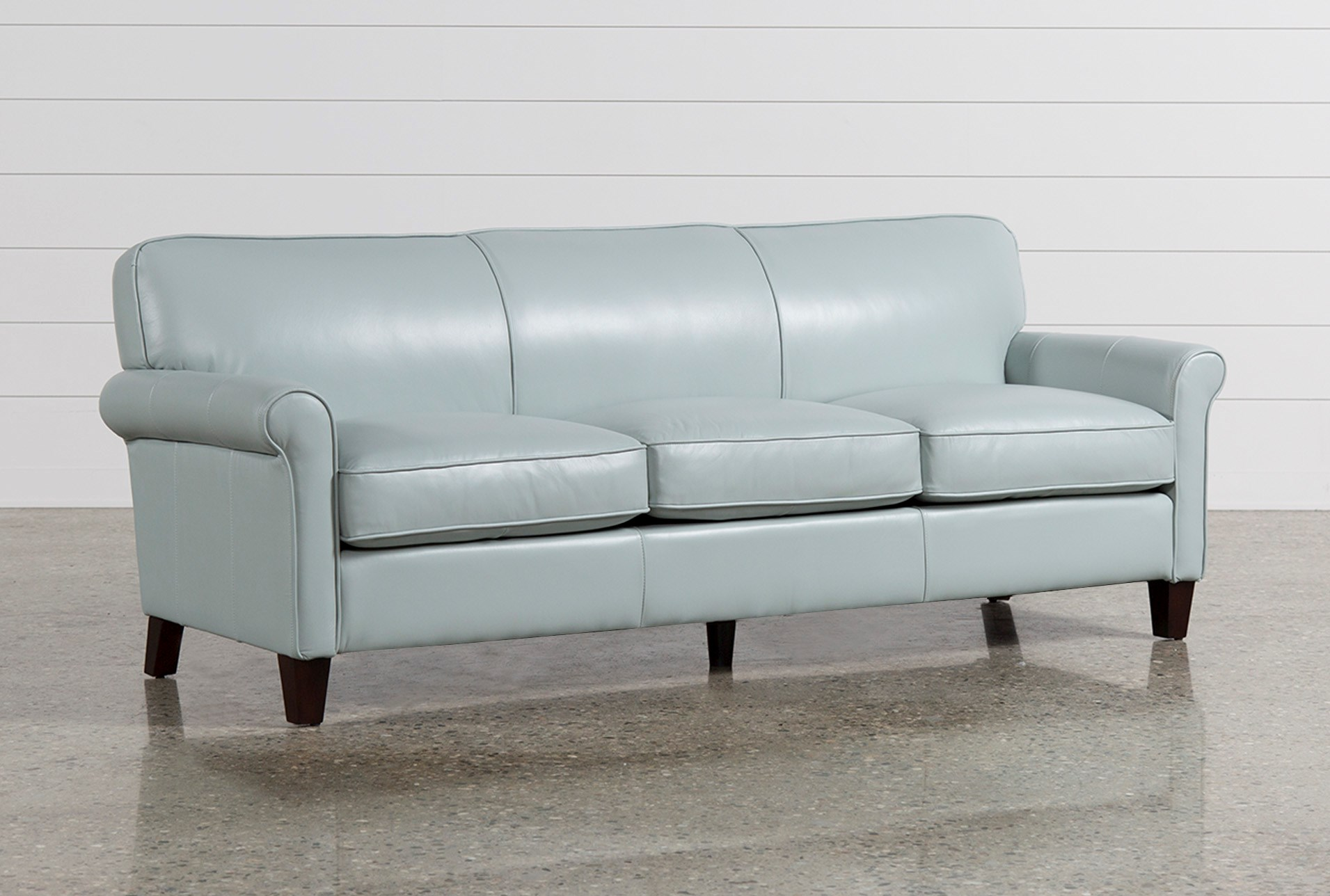 Phoebe Blue Leather Sofa Qty 1 Has Been Successfully Added To Your Cart