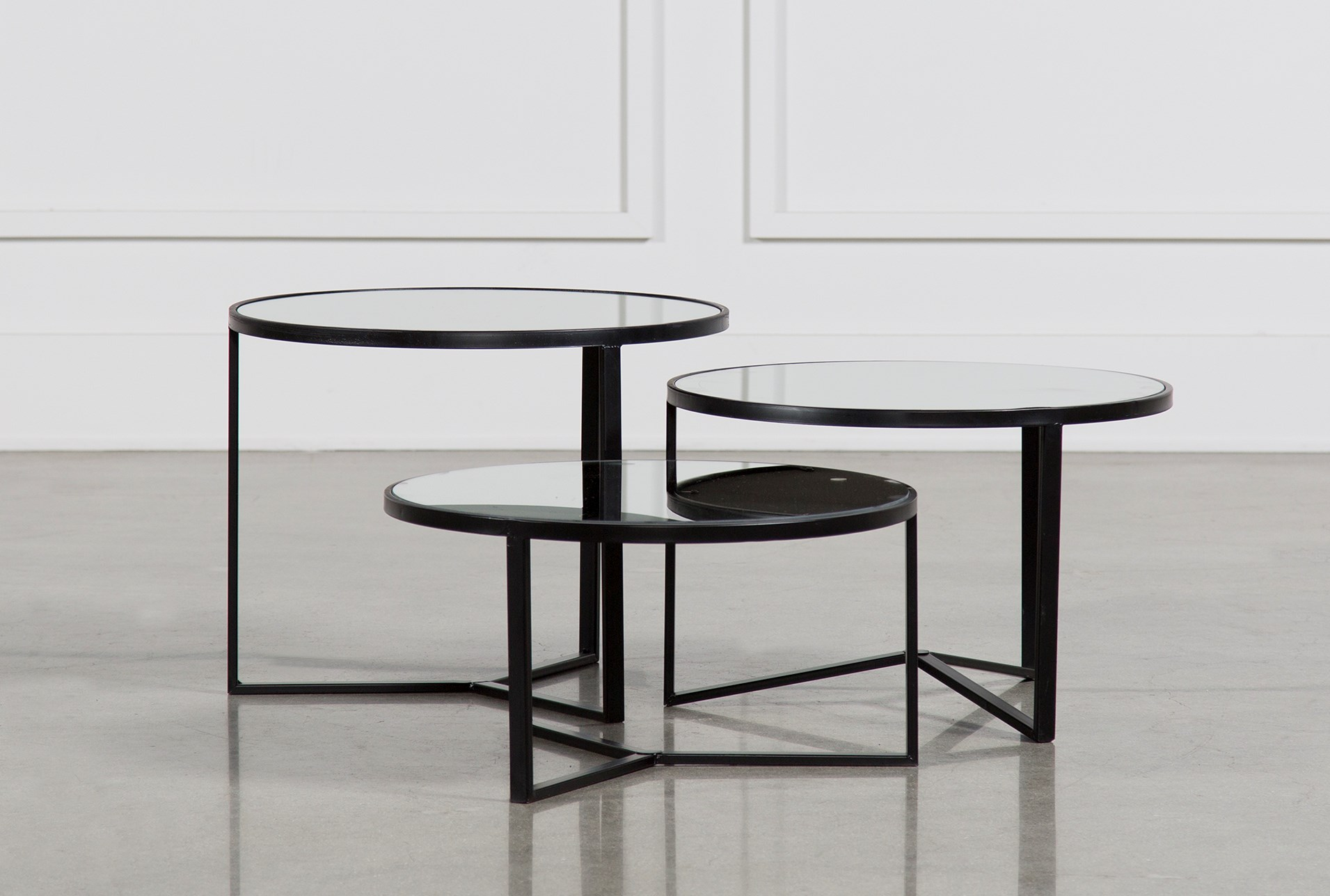 bunching coffee tables. Fiona 3 Piece Bunching Coffee Table Set - 360 Tables