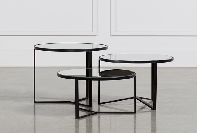 Fiona 3 Piece Bunching Coffee Table Set 360