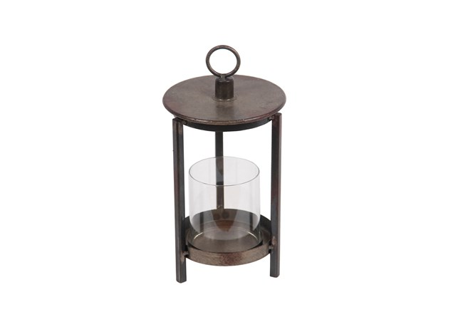 Rustic Brown Lantern Small - 360