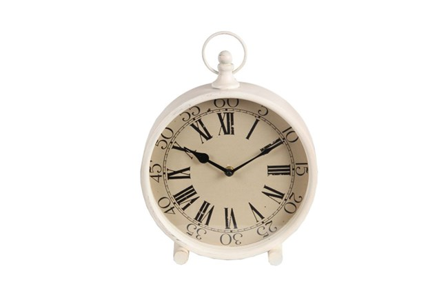 White Iron Clock Medium - 360