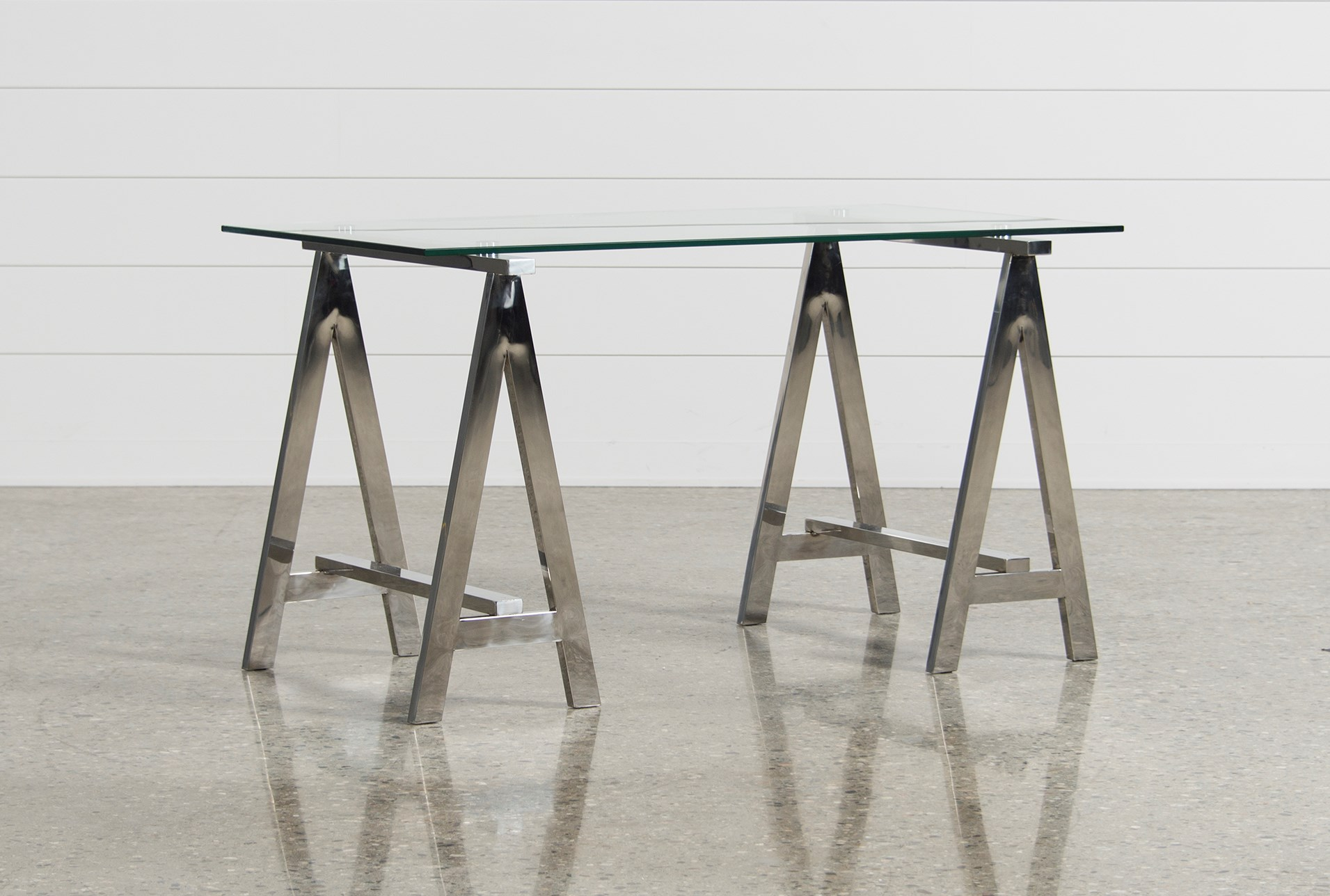 Jenica Glass Desk | Living Spaces