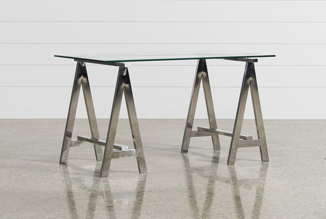 Jenica Glass Desk - 360
