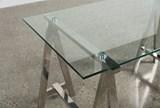 Jenica Glass Desk - Left