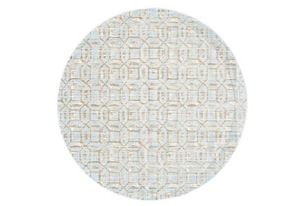 105 Inch Round Rug-Coppola Sky Blue