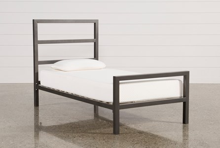 Orson Grey Twin Metal Panel Bed