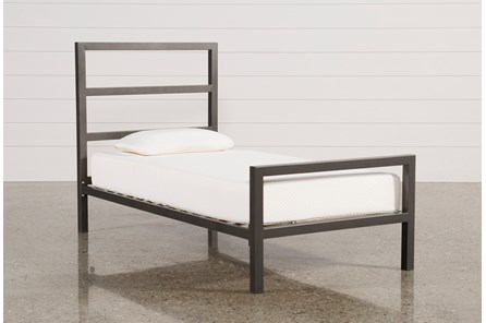 Orson Grey Twin Metal Panel Bed - Main