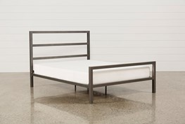 Orson Grey Full Metal Panel Bed