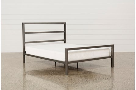 Orson Grey Full Metal Panel Bed - Main