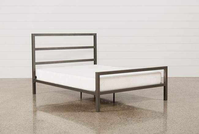 Orson Grey Full Metal Panel Bed - 360