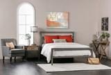 Orson Grey Full Metal Panel Bed - Room
