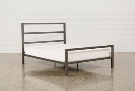 Orson Grey Queen Metal Panel Bed