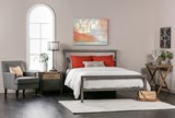 Orson Grey California King Metal Panel Bed - Room