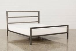 Orson Grey Eastern King Metal Panel Bed