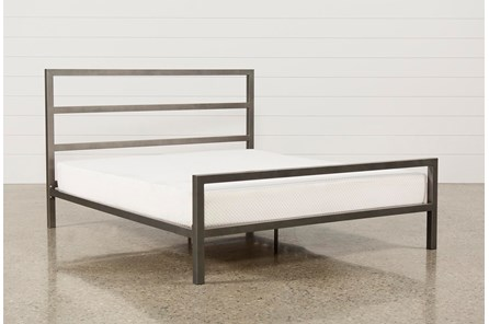 Orson Grey Eastern King Metal Panel Bed - Main