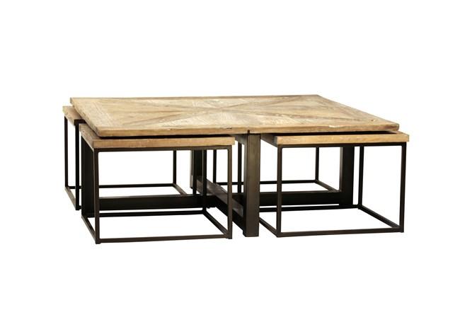 Wolcott 5 Piece Nesting Coffee Table - 360