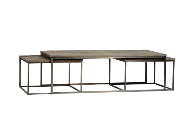 Trinity Piece Nesting Coffee Table Living Spaces - 3 piece nesting coffee table