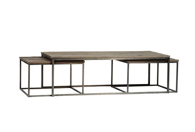 Trinity Piece Nesting Coffee Table Living Spaces - 3 piece nesting coffee table