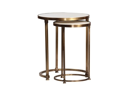 Celine 2 Piece Round Nesting Tables