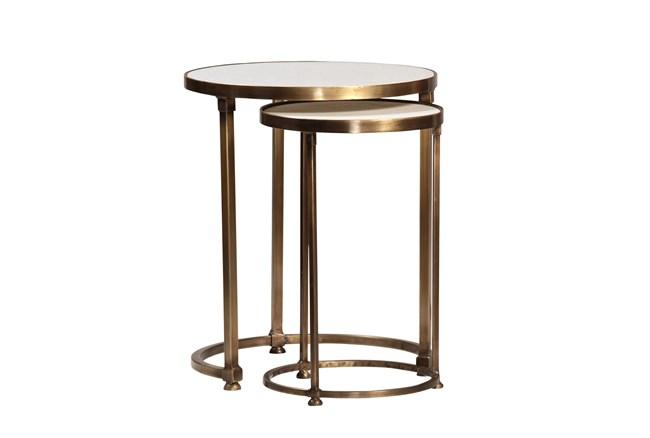 Celine 2 Piece Round Nesting Tables - 360