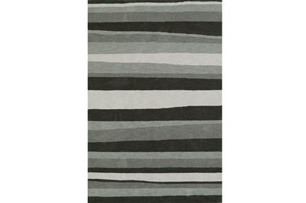 108X156 Rug-Charcoal Waves