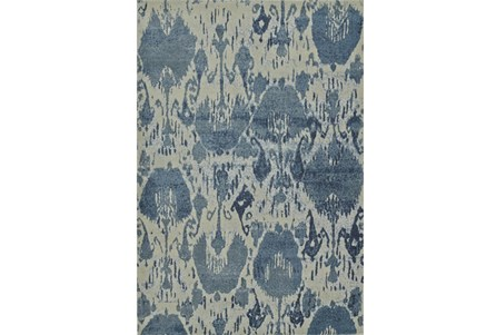 94X127 Rug-Ikat Denim