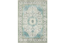 90X126 Rug-Ketton Classic Teal/Lime