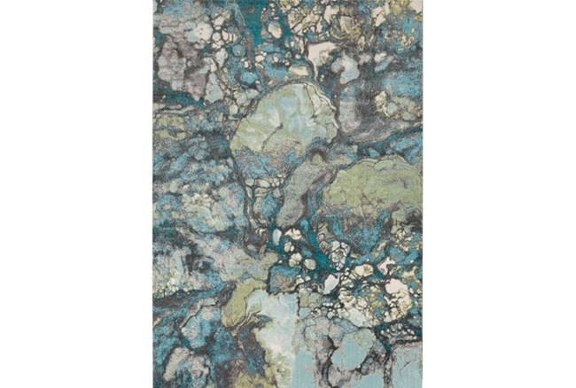 62X90 Rug-Ketton Abstract Teal/Lime/Grey - 360