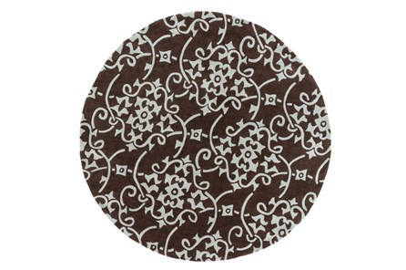 96 Inch Round Rug-Colleen Brown - Main