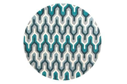 96 Inch Round Rug-Marsha Teal