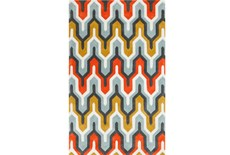 24X36 Rug-Marsha Poppy/Grey/Gold